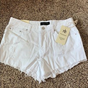 NWT White High Wasted Shorts